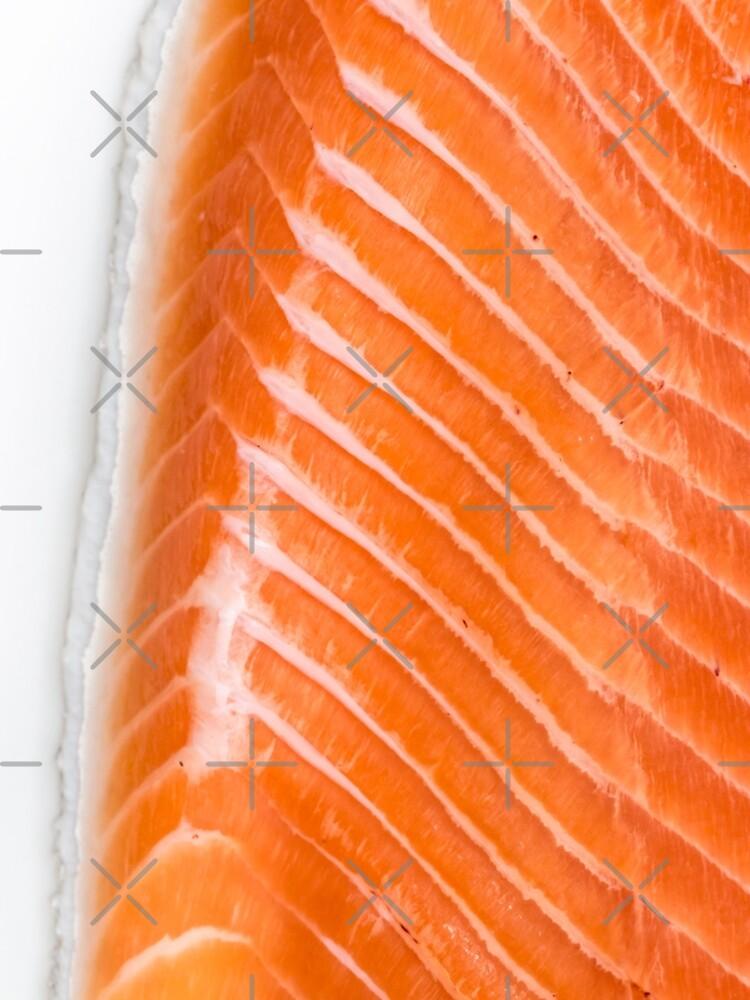 raw salmon fillet by nobelbunt