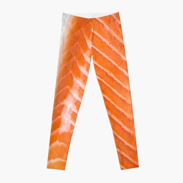raw salmon fillet Leggings