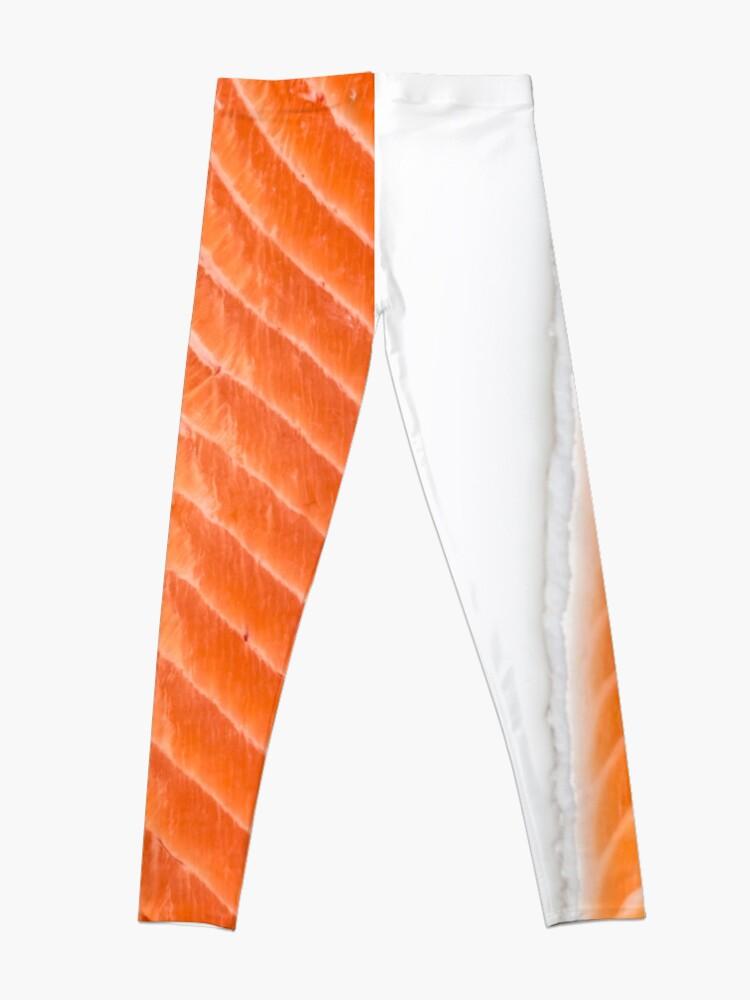 Alternate view of raw salmon fillet Leggings
