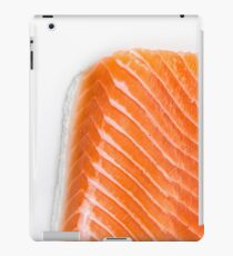 raw salmon fillet iPad Case/Skin