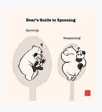 Bear's Guide to Spooning Photographic Print