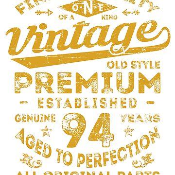 Vintage 94th Birthday Gift Idea by ciddesign