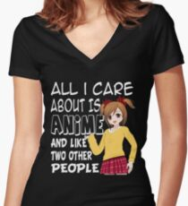Anime T Shirt - Graphic Novels, Comics, All I Care About Women's Fitted V-Neck T-Shirt