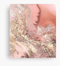 Rose Gold Marble Canvas Print