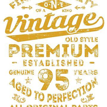 Vintage 95th Birthday Gift Idea by ciddesign