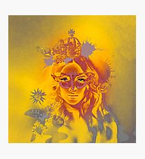 Queen Gold Mother Nature Pepe Psyche Photographic Print