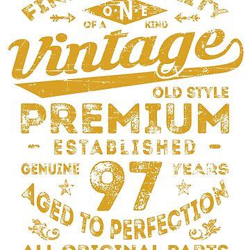 Vintage 97th Birthday Gift Idea by ciddesign