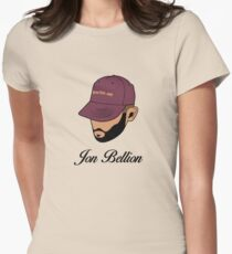 Jon Bellion Face Art with Text Womens Fitted T-Shirt