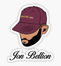 Jon Bellion Face Art with Text Sticker