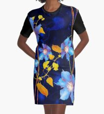 clématites/clematis Graphic T-Shirt Dress