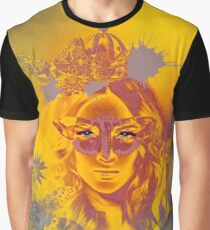Queen Gold Mother Nature Pepe Psyche Graphic T-Shirt
