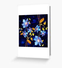 clématites/clematis Greeting Card