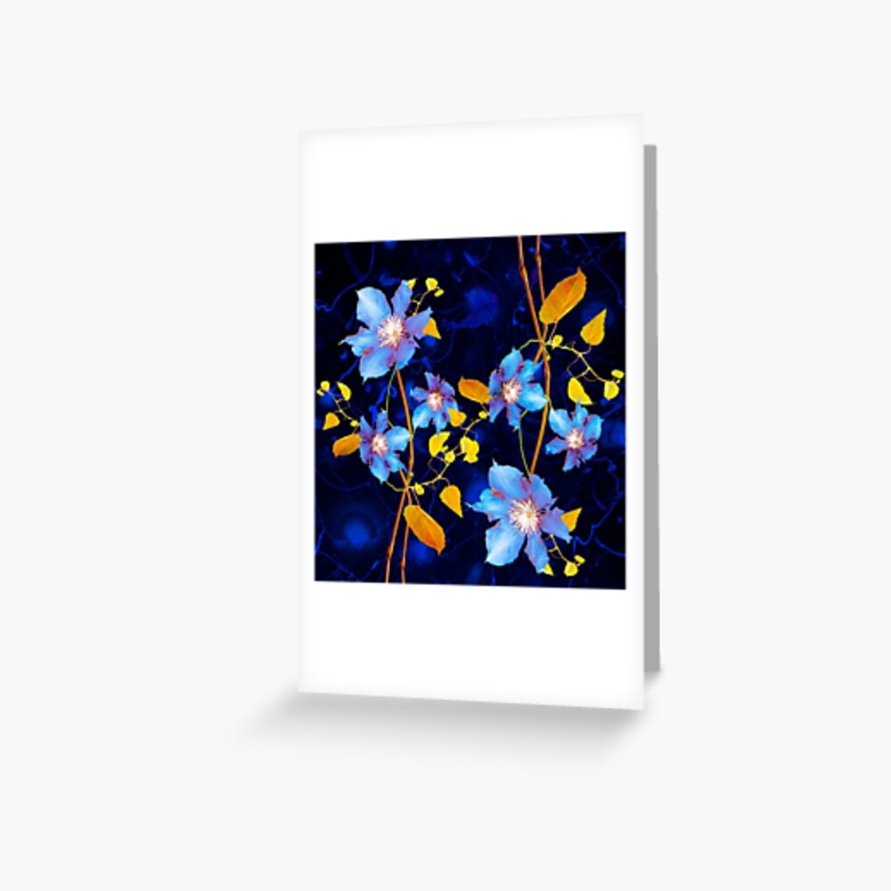 clématites/clematis Greeting Card
