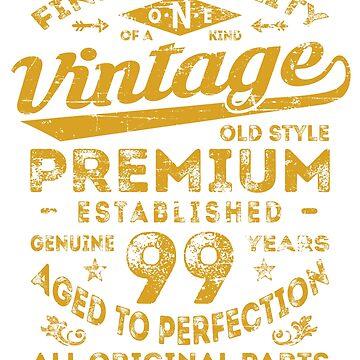 Vintage 99th Birthday Gift Idea by ciddesign