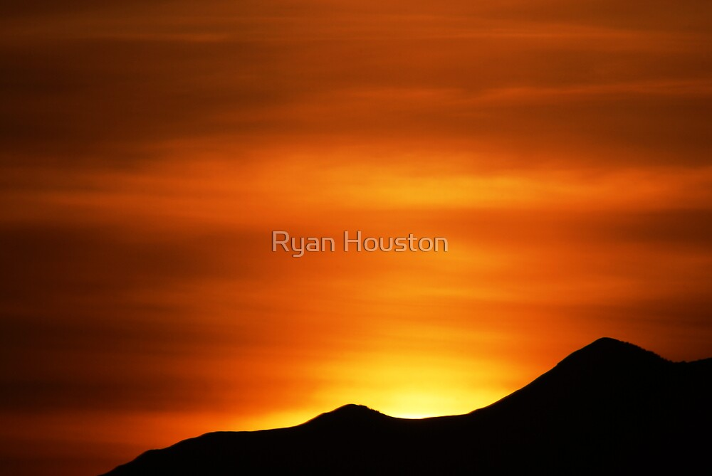 Winter Sunset - Mouth of American Fork Canyon by Ryan Houston
