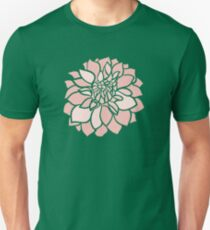 Pink & Mauve Dahlias Unisex T-Shirt
