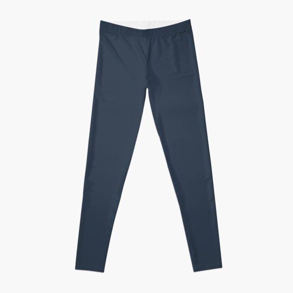 Naval Navy Blue Solid Color Leggings