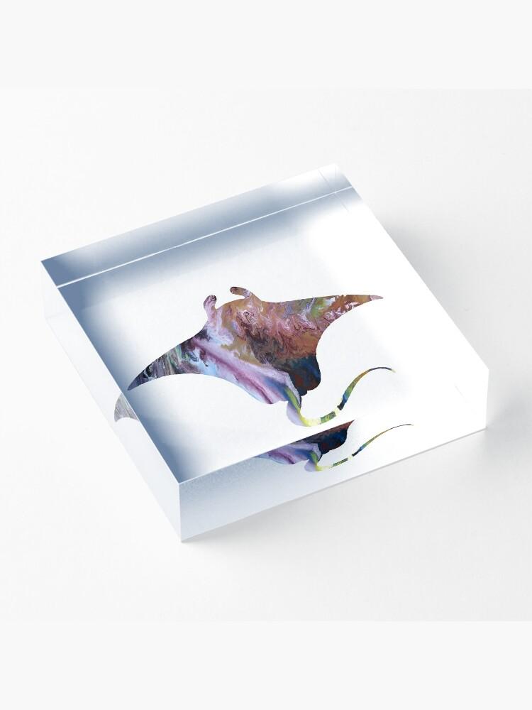 Alternate view of Manta ray Acrylic Block