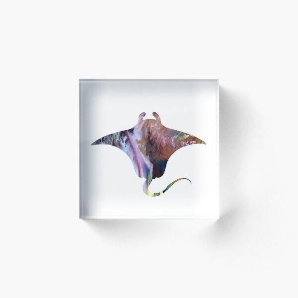 Manta ray Acrylic Block
