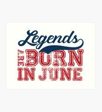 Lámina artística Las leyendas nacen en junio
