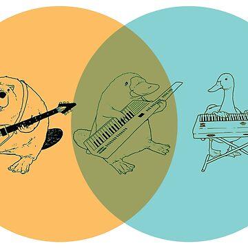 Keytar Platypus Venn Diagram - OGB by GuyBlank