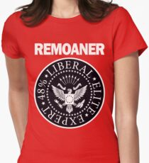 Remoaner Black Monochrome Womens Fitted T-Shirt