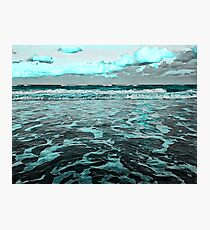 Sea Foam Blues Photographic Print