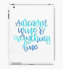 Sarcasm, Wine, & Everything Fine iPad Case/Skin