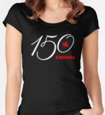 Canada 150, Canada Day Celebration Tshirt / Decor Women's Fitted Scoop T-Shirt