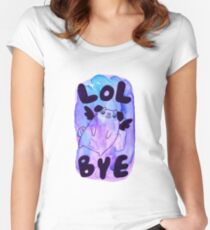 Lol Bye - Chubby Flying Pug Women's Fitted Scoop T-Shirt