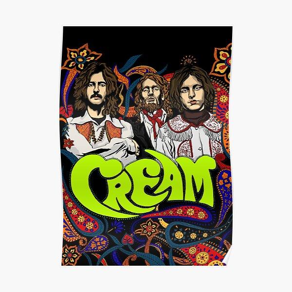 Bande de crème, Clapton, pas de fond Poster