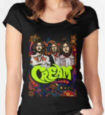 Cream Band, Clapton, no background Women's Fitted Scoop T-Shirt