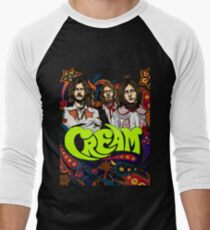 Cream Band, Clapton, no background Men's Baseball ¾ T-Shirt