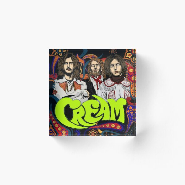 Cream Band, Clapton, no background Acrylic Block