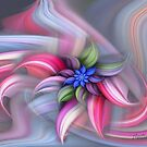 Swirling abstract flower by NadineMay