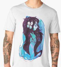 Blue Watercolor Mermaid Men's Premium T-Shirt