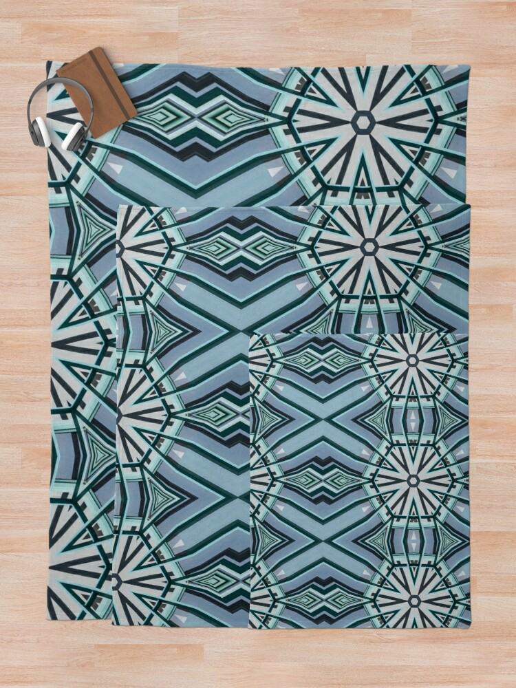 Alternate view of Architecture kaleidoscope light blue Throw Blanket