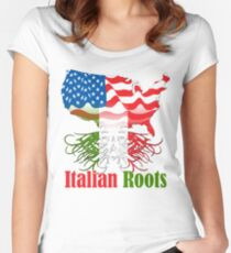 Italian Roots T-Shirt Women's Fitted Scoop T-Shirt