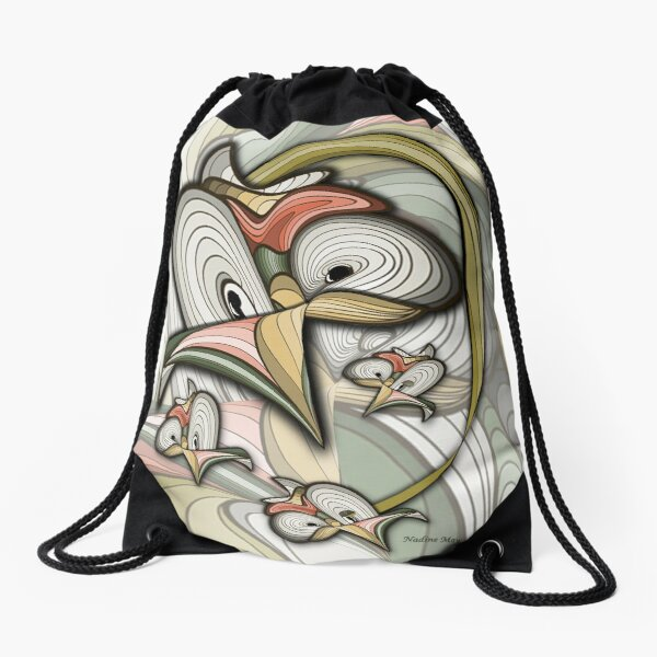 Organic futuristic creation.  Drawstring Bag