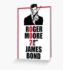 Roger Moore James Bond 007 Greeting Card