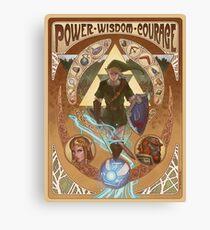 Art Nouveau Legend of Zelda Canvas Print