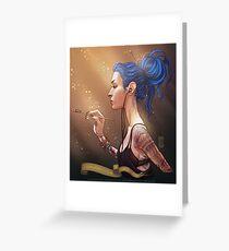 Karou Painting in Light Greeting Card