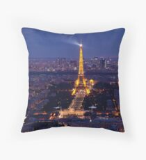 Eiffel Tower at twilight Throw Pillow
