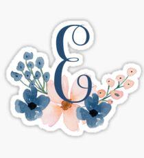 Monogram E Sticker