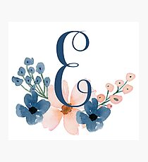 Monogram E Photographic Print