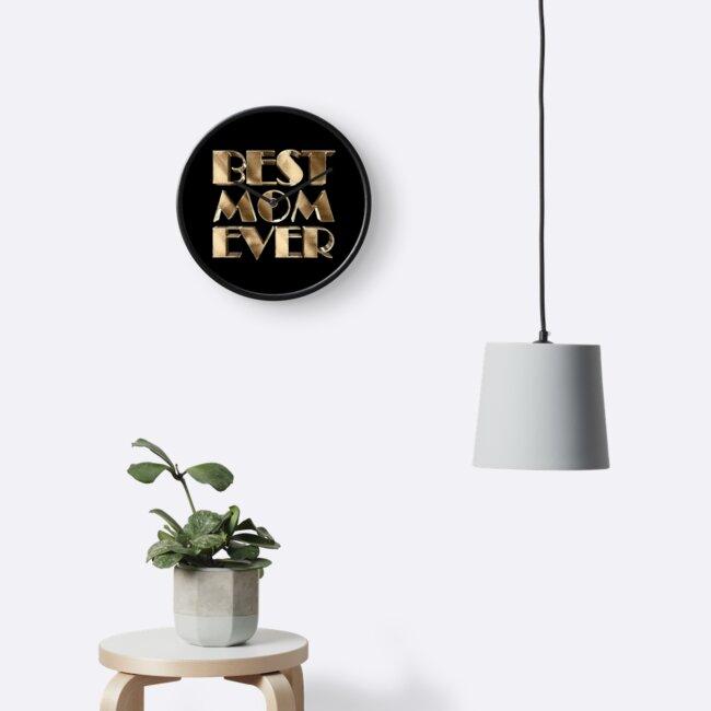 Best Mom Ever Elegant Gold Look Typography by URSparklingShop