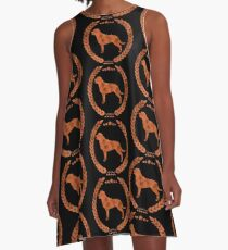 Rottweiler Camo Brown A-Line Dress