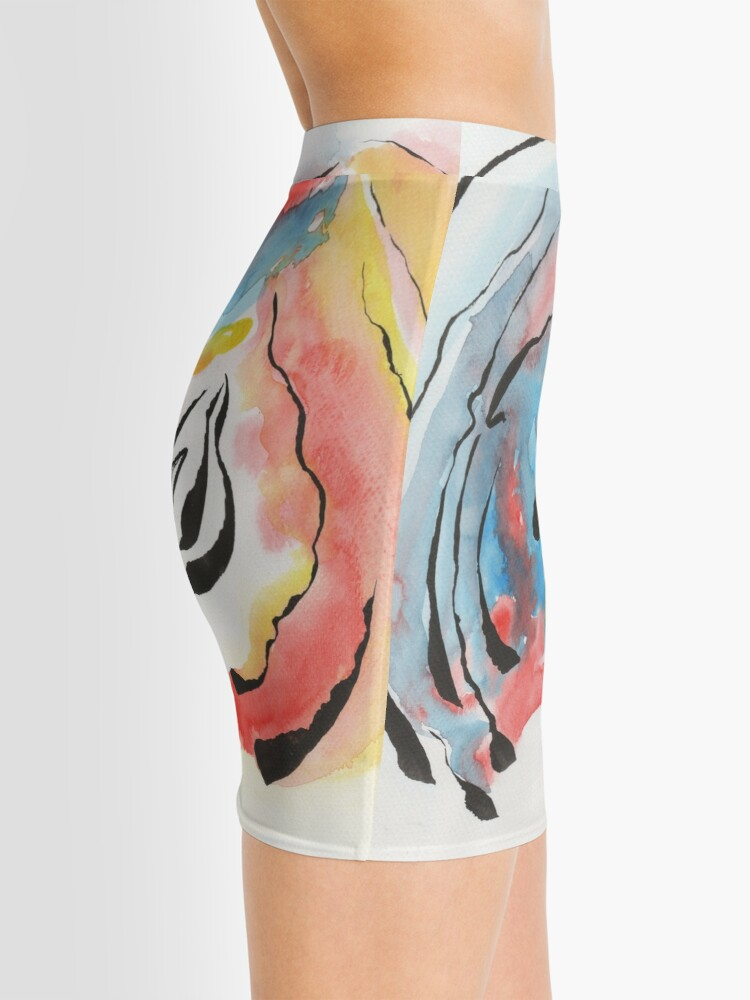 Alternate view of grow up watercolor painting Mini Skirt
