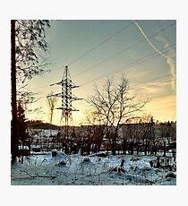 rural sunset Photographic Print