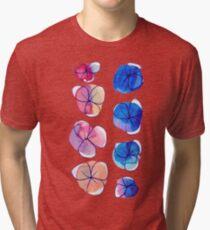 Simple Ombre Watercolor Flowers Tri-blend T-Shirt